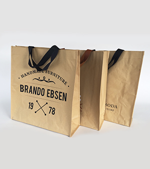 fabricant de sac kraft réutilisable personnalisé factory of kraft paper reusable bags fabriek van kraft papieren non woven draagtassn